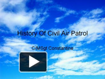 """history of civil air patrol History of the civil air patrol chaplain service/corps volume one: """"over fly"""" chaplain, lt col steven e thomas."""