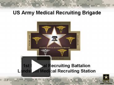 Ppt us army medical recruiting brigade powerpoint presentation ppt us army medical recruiting brigade powerpoint presentation free to view id 3b060a nwmwm toneelgroepblik Choice Image