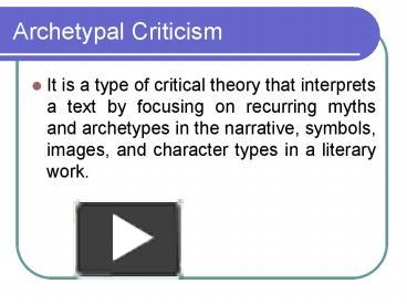 how are archetypes used in literature