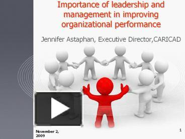 the importance of leadership in an organization