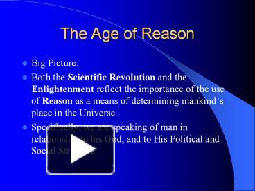 the age of reason and revolution