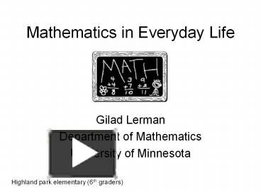 ppt mathematics in everyday life powerpoint presentation free to