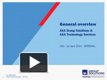 axa insurance powerpoint template  PPT – General overview PowerPoint presentation   free to view - id ...