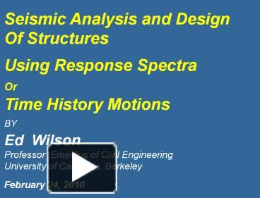 PPT – SAP 2000 SEMINAR PowerPoint presentation | free to