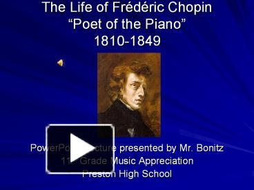 chopin as the poet of piano Frédéric chopin, poet of the piano on accuradio free customizable online radio with unlimited skips listen now.