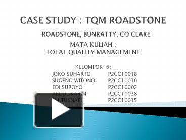 motorola case study on tqm