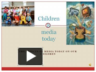 the effects of media on children