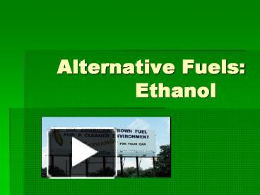 alternative fuels ethanol