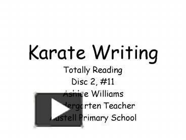karate writing