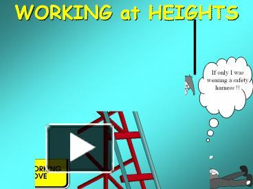 PPT – WORKING at HEIGHTS PowerPoint presentation | free to