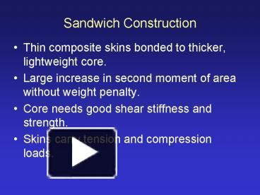 PPT – Sandwich Construction PowerPoint presentation | free