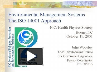 environmental management system iso 14001 ppt