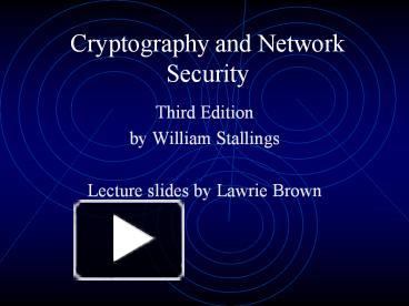 Ppt Cryptography And Network Security Powerpoint Presentation Free To Download Id 3bafbc Ztc1z