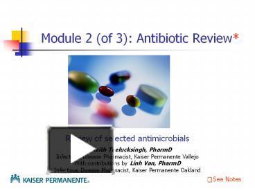 anti microbials module