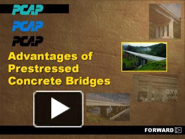 PPT – Advantages of Prestressed Concrete Bridges PowerPoint