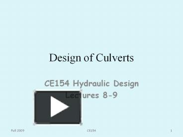 PPT – Design of Culverts PowerPoint presentation | free to download