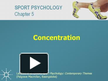 concentration in sport psychology