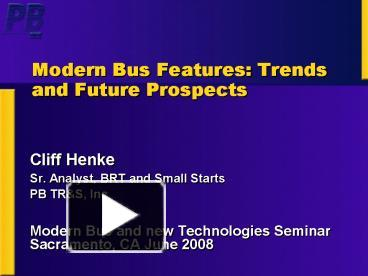PPT – Modern Bus Features: Trends and Future Prospects PowerPoint Nabi Lfw Bus Wiring Schematics on
