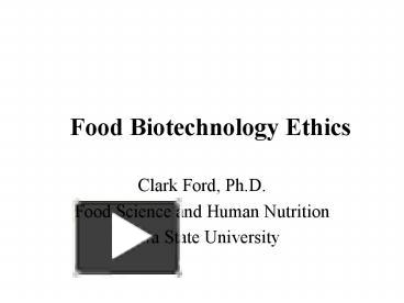 food inc ethics