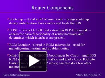 PPT – Router Components PowerPoint presentation | free to download