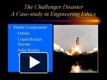 Space Shuttle Challenger ethics issues | tee shi feng - Academia edu