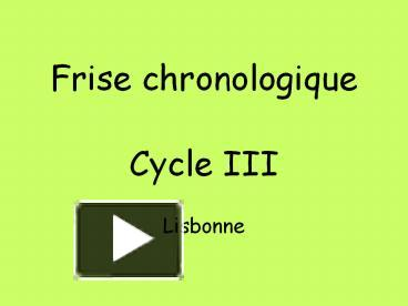 Ppt Frise Chronologique Powerpoint Presentation Free To