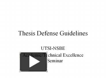 ppt – thesis defense guidelines powerpoint presentation | free to, Modern powerpoint