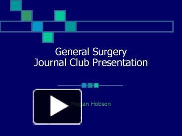 Ppt General Surgery Journal Club Presentation Powerpoint