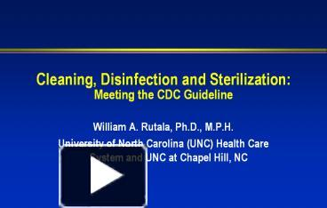 Classification Of Disinfectants Ppt