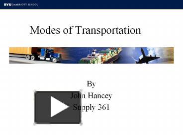 PPT – Modes of Transportation PowerPoint presentation | free