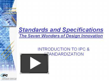 PPT – Standards and Specifications The Seven Wonders of