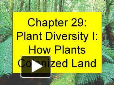 chapter 29 an overview of land