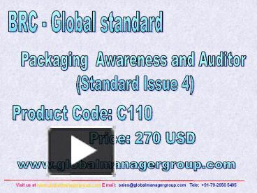 PPT – BRC iop Packaging Training Presentation PowerPoint