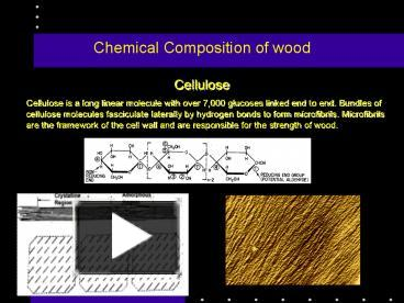 chemical composition of the wood and