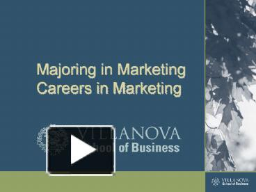 majoring in marketing This article discusses how a psychology degree can help prepare students for work in marketing management positions a degree on its own will never garuantee anything and on its own it may not be enough either find some tips and resources to help you along your path to marketing management.