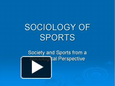 sociology of sports midterm guide Sage reference the complete guide for your research journey donnelly, p 2007, 'the sociology of sport', in 21st century sociology, sage publications, inc.