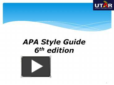 apa style guide 6th edition