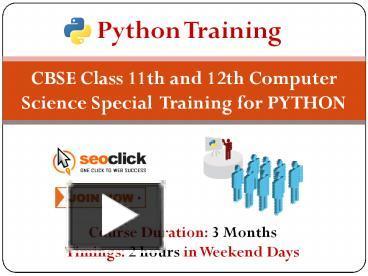 PPT – CBSE Python Syllabus Training in Delhi PowerPoint