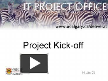 project kick off