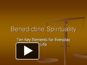 benedictine spirituality