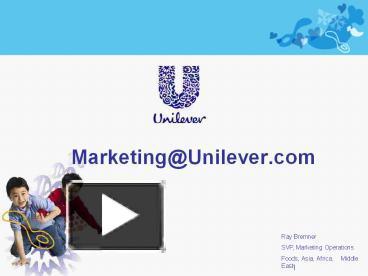 ppt – marketing@unilever powerpoint presentation   free to, Presentation templates