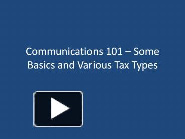 communications 101