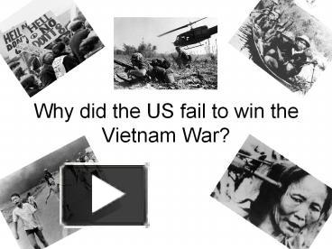 why did the us lose the vietnam war essay