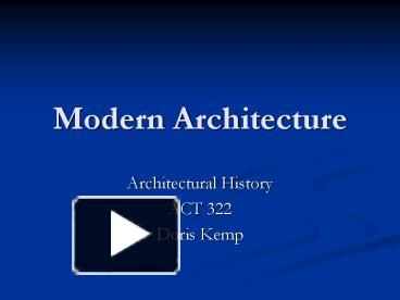 Modern Architecture Ppt ppt – modern architecture powerpoint presentation | free to