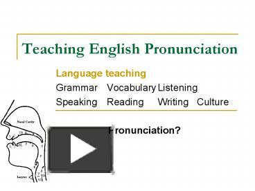 PPT – Teaching English Pronunciation PowerPoint presentation