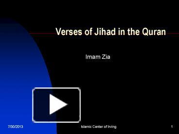 Ppt verses of jihad in the quran powerpoint presentation free to ppt verses of jihad in the quran powerpoint presentation free to download id 3e3af4 ywqwm toneelgroepblik Gallery