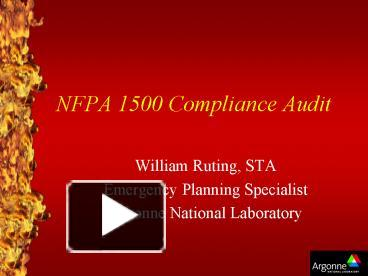 PPT – NFPA 1500 Compliance Audit PowerPoint presentation | free to