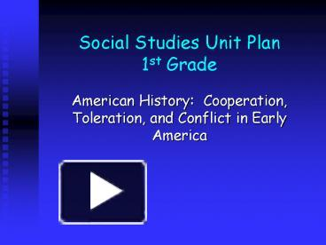 unit plan social studies
