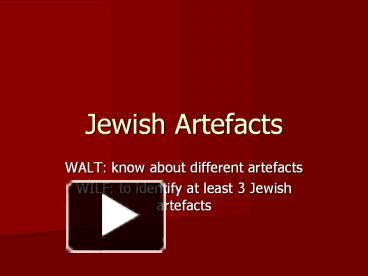 Ppt jewish20artefacts powerpoint presentation free to download ppt jewish20artefacts powerpoint presentation free to download id 3f23a yzmzn toneelgroepblik Image collections