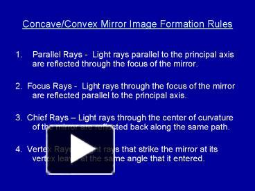 Reflection in curved mirrors optics powerpoint lesson & student.